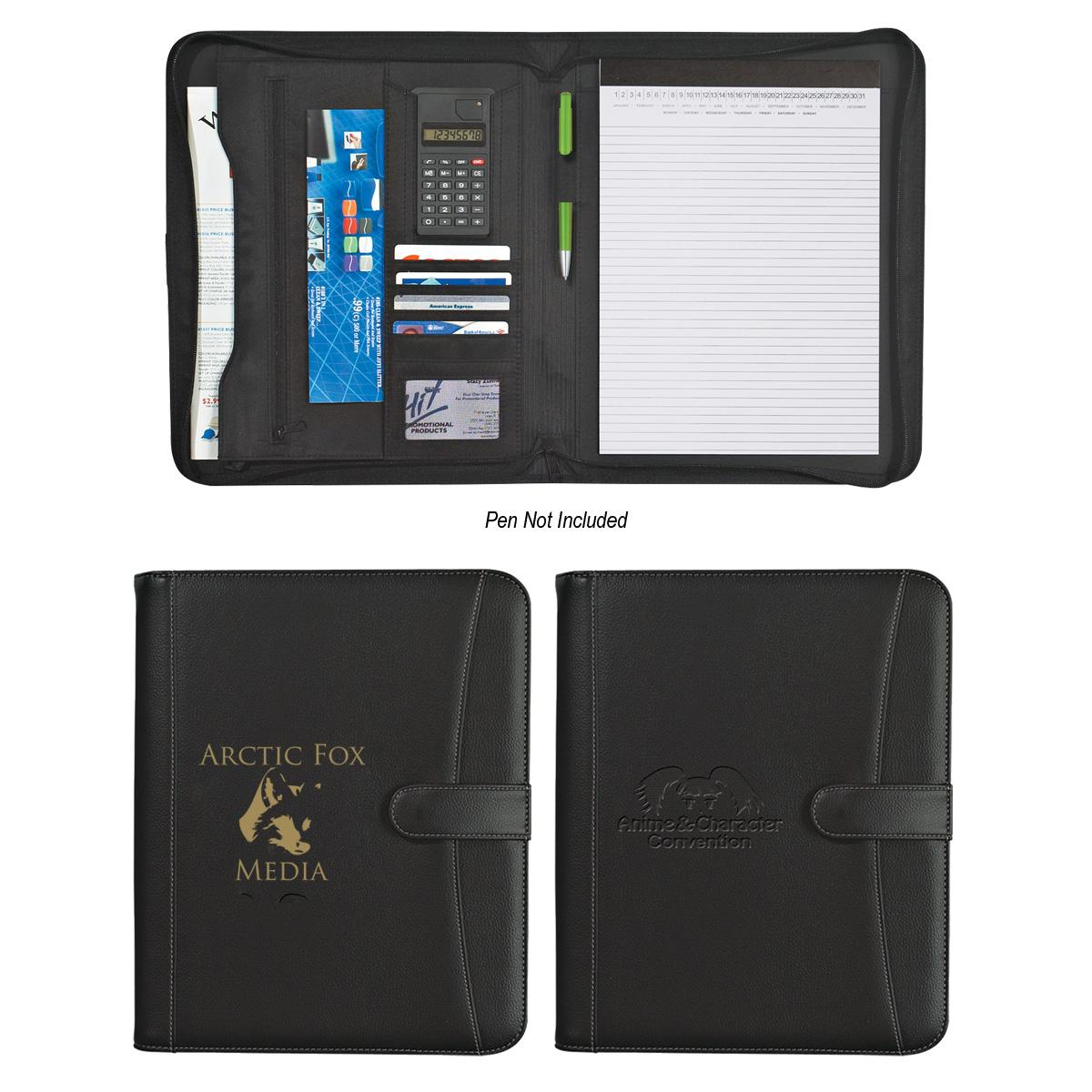Zippered Portfolio With Calculator
