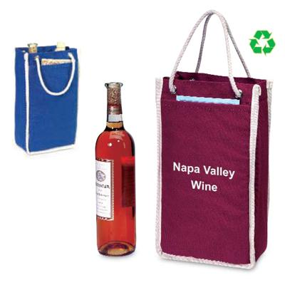 Premium 2 Bottle Canvas Wine Tote