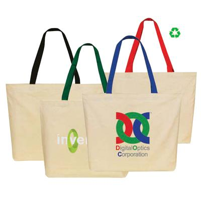 Large Color Handle Canvas Tote