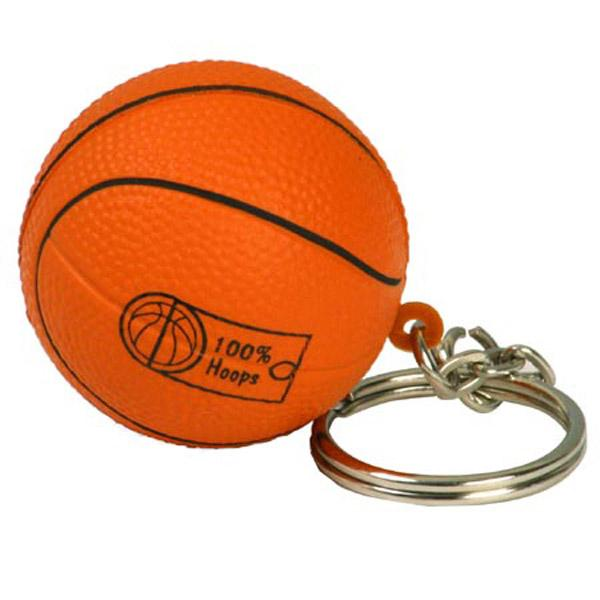 BASKETBALL Stress Ball KEY CHAIN