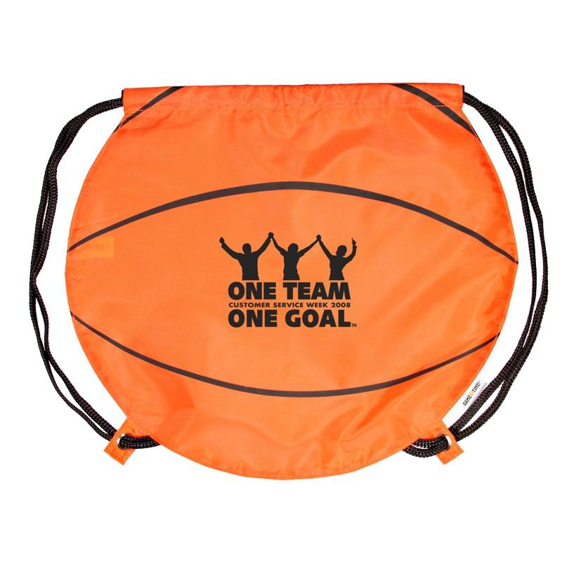 GameTime!™ Basketball Drawstring Backpack