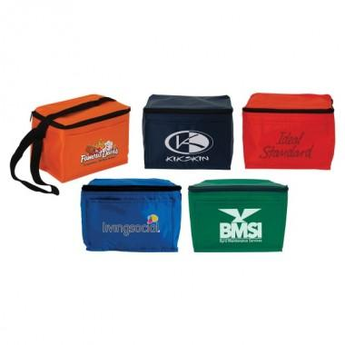 6 Pack Deluxe Nylon Cooler Bag