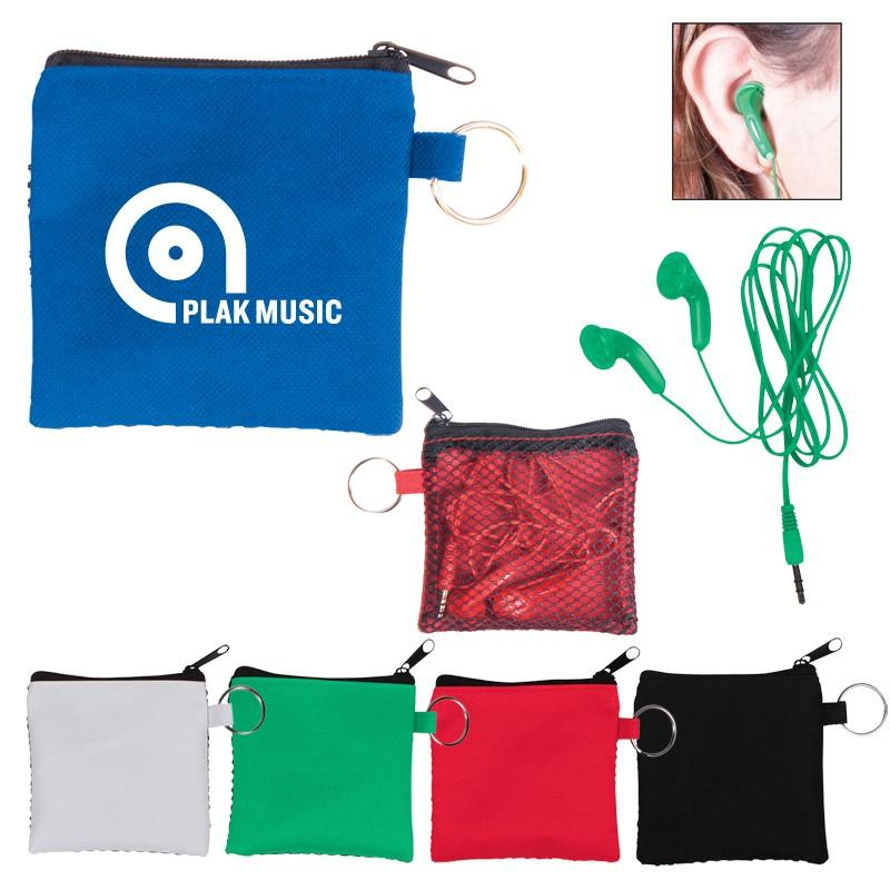 Earbuds in Zip Pouch