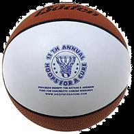 """5"""" Mini Autograph Rubber Basketball"""