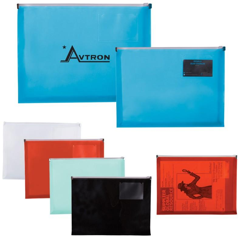 Promotional products zip closure envelope with business card slot zip closure envelope with business card slot colourmoves