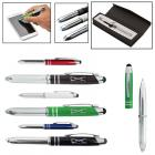 Executive 3 in 1 Metal Pen / Stylus with LED Light