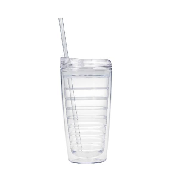 Promotional Products Triton 16 oz Double Wall Tumbler with Straw
