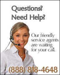 Our customer service is available Monday through Friday, 9am-5pm ET. Call us at (888) 818-4648.